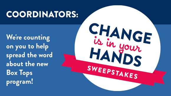 Change is in your hands sweepstakes